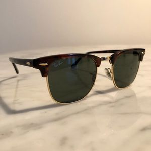AUTHENTIC Ray Ban CLUB MASTER sun glasses TORTOISE